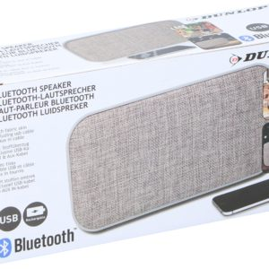 DUNLOP kandiline Bluetooth- kõlar halli kangast kattega