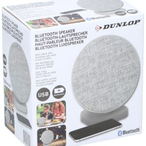 DUNLOP ümmargune Bluetooth- kõlar halli kangast kattega