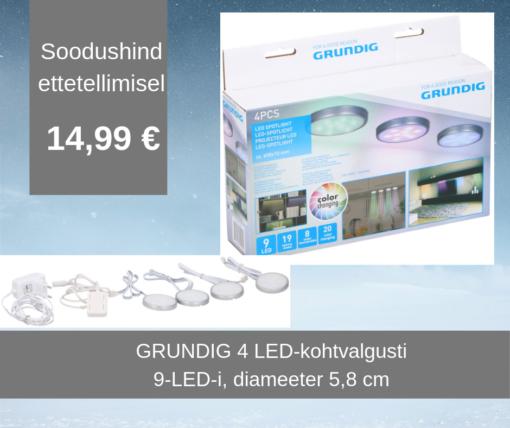 GRUNDIG neljane LED-kohtvalgusti