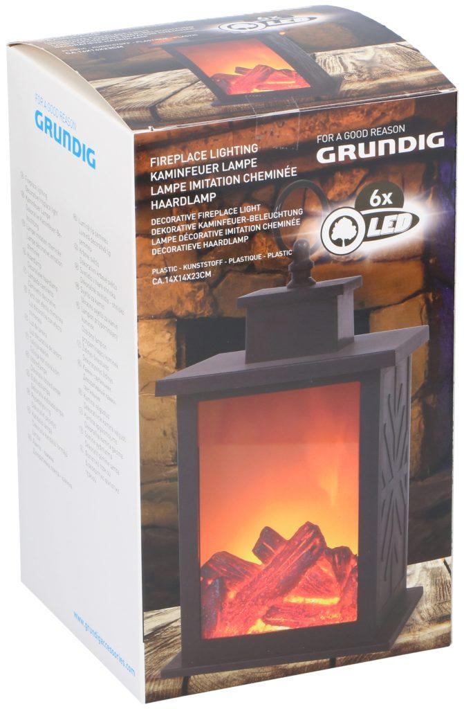 GRUNDIG Latern-Kamin 6 LED