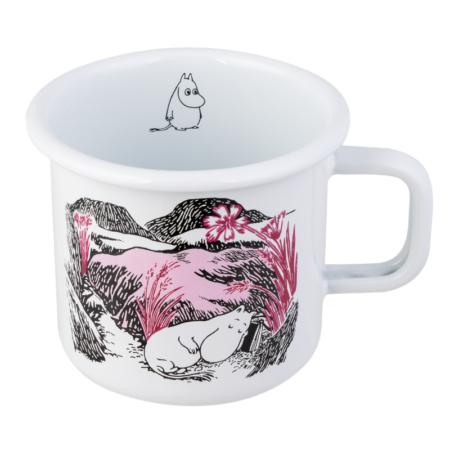 Muurla Muumi Originals Nap at meadow enamel mug 3,7 dl